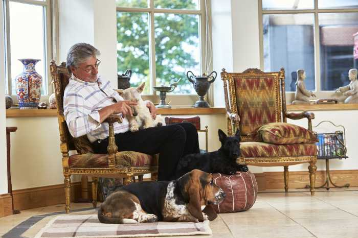 Homesitter Tim Clark with 3 dogs